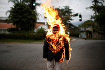 An effigy depicting Venezuela's President Nicolas Maduro is set alight during the traditional burning of Judas as part of Holy Week celebrations, at a street in Caracas, Venezuela, on April 16, 2017. (Photo: Marco Bello / Reuters)