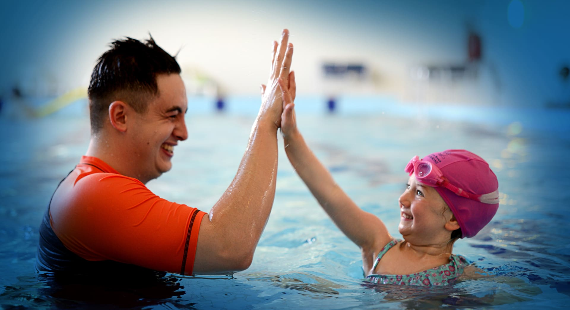 Swimming lessons for preschoolers at Hilton Brown Swimming