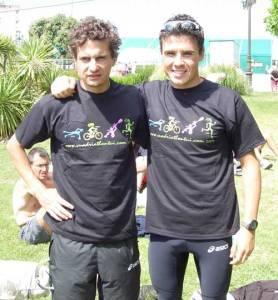 Gómez Noya e Iván Raña.