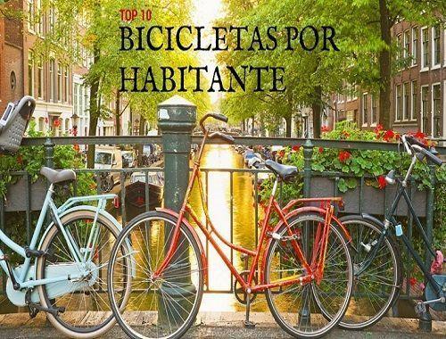 Los 10 países con más bicicletas por habitante