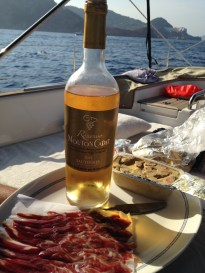 Dieta mediterránea: Sauterne, Jamón serrano y foie gras.