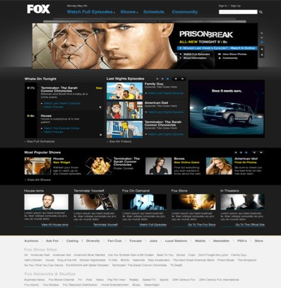 Fox.com Redesign 1