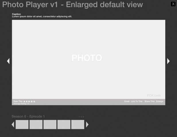 Modular Photo Gallery Wireframe