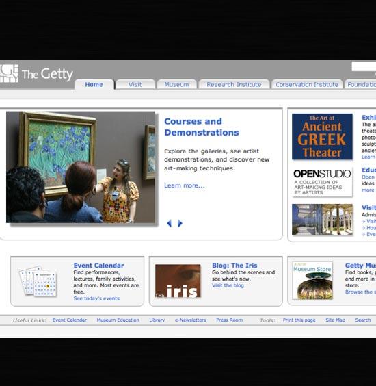 Getty Web Redesign