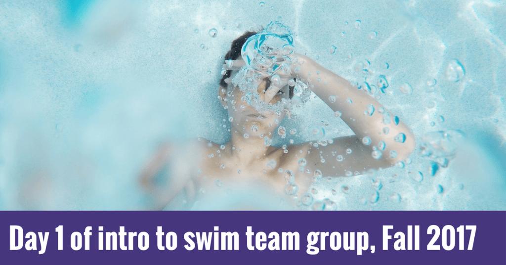 New 2017 Fall swim team season starts today