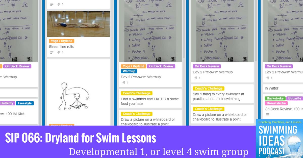 SIP 066: Dryland for swim lessons