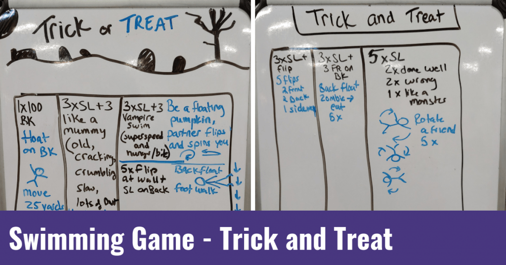 Swimming Game – Trick and Treat