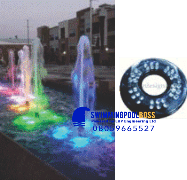 SUBMERSIBLE NOZZLE MOUNTED LED FOUNTAIN LIGHT
