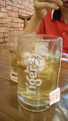 this Dong Bei chinese restaurant serves so much beer they give you tea in tiger beer mugs! That's the spirit!