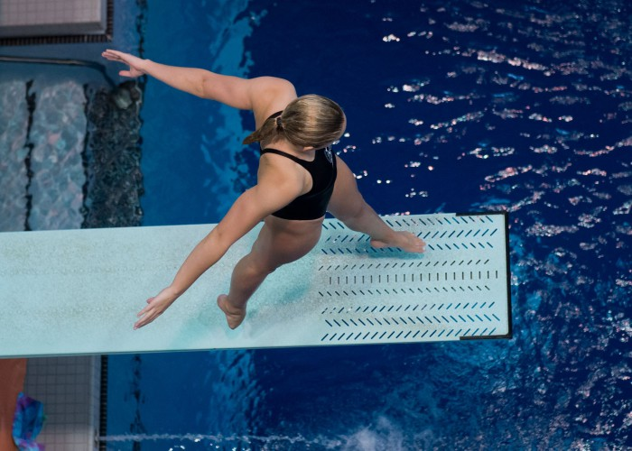 KNOXVILLE, TN - August 17, 2014: Mackenzie Willborn during the 2014 USA Senior Diving National Event Finals at Allan Jones Aquatic Center in Knoxville, TN. Photo By Matthew S. DeMaria