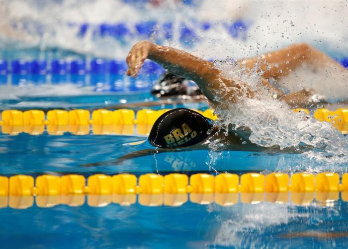 Cesar Cielo 100 free semis Doha 2014