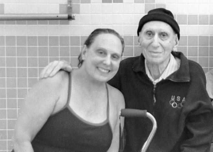 Jane Katz and Her Dad Leon Katz