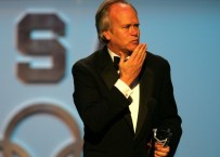 CHICAGO - DECEMBER 8: Inductee Dick Ebersol addresses the audience during a ceremony December 8, 2005 to induct the 2006 class into the US Olympic Hall of Fame held at the Harris Theatre in Chicago, Ilinois. (Photo by Matthew Stockman/Getty Images)