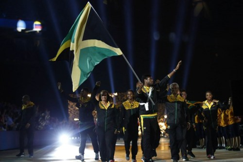 Jul 10, 2015; Toronto, Ontario, Canada; The delegation from Jamaica walks in the parade of nations during the opening ceremony for the 2015 Pan Am Games at Pan Am Ceremonies Venue. Mandatory Credit: Rob Schumacher-USA TODAY Sports