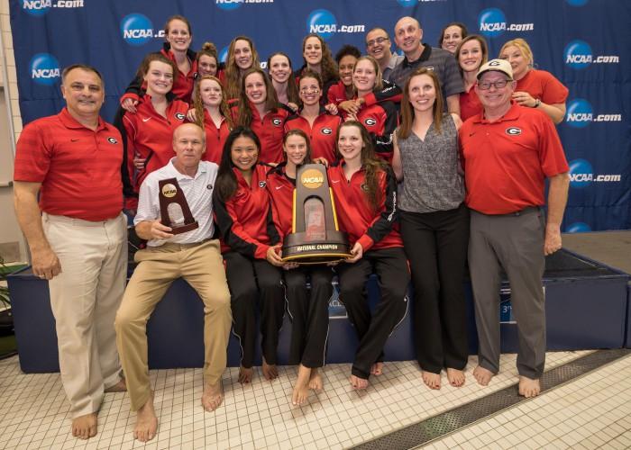 2016.03.19 2016 Womens NCAA Swimming Championships_Georgia Trophy