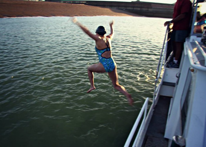 Paige-Christie-Jump-English-Channel-2014. Open Water.