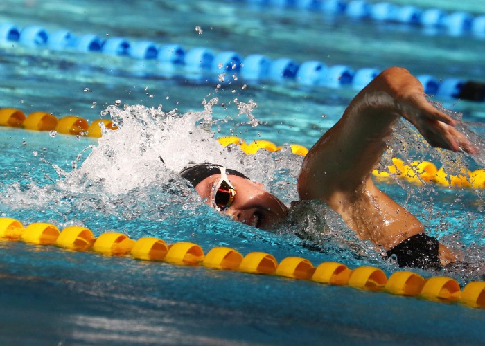 DURBAN, SOUTH AFRICA - APRIL 13: Michelle Weber during the heats session 800m freestyle for women on day 6 of the SA National Aquatic Championships and Olympic Trials on April 13 , 2016 at the Kings Park Aquatic Center pool in Durban, South Africa. Photo Credit / Anesh Debiky/Swim SA