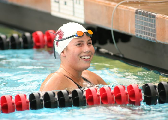 6 October 2006: Elaine Breeden during Stanford's meet against Oregon State and San Jose State at the Avery Aquatic Center in Stanford, CA.