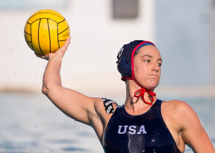 December 18, 2017; Joint Forces Training Center, Los Alamitos, California, USA; Waterpolo: RockTape; Maggie Steffens Photo credit: Catharyn Hayne- KLC fotos
