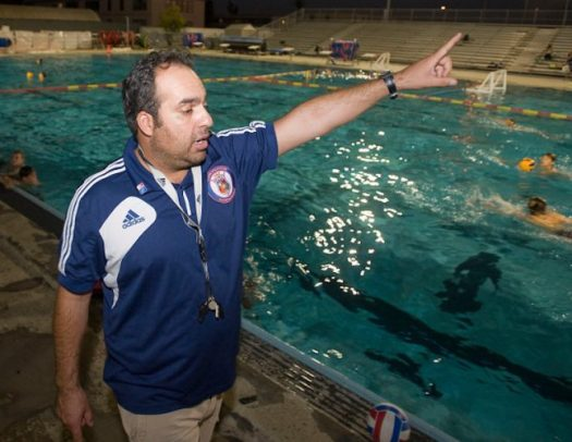Bahram Hojreh coaches kids at his water polo club in 2013. (Photo by ROSE PALMISANO, ORANGE COUNTY REGISTER/SCNG)