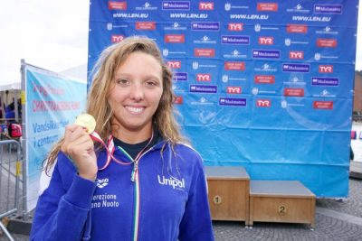 Swim event TF Christiansborg Rundt 2018. Swim event TF Christiansborg Rundt 2018. Winner of the female race. Alisa Tettamanzi (ITA).