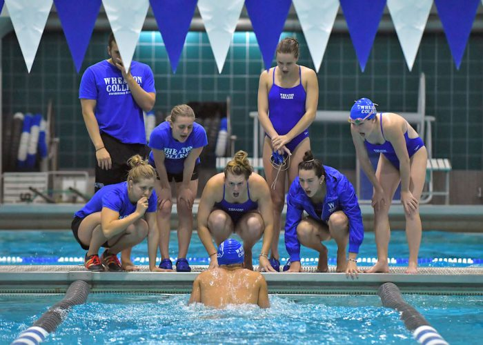 Wheaton College Swimming & Diving teams compete against WPI and UMass Dartmouth. - Photo by: Keith Nordstrom