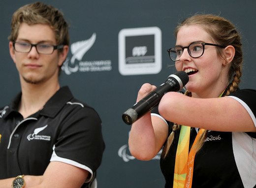 Paralympian Nikita Howarth at ACC Paralympics New Zealand Open Day in 2016 credit Getty Images
