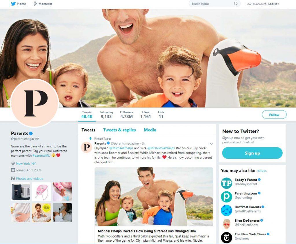 phelps parents magazine twitter