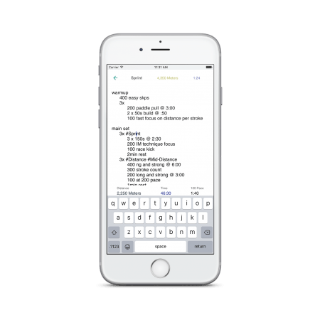 Commit Swimming iphone workout