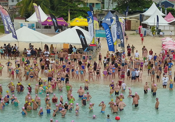 Swim Barbados Open water swim start