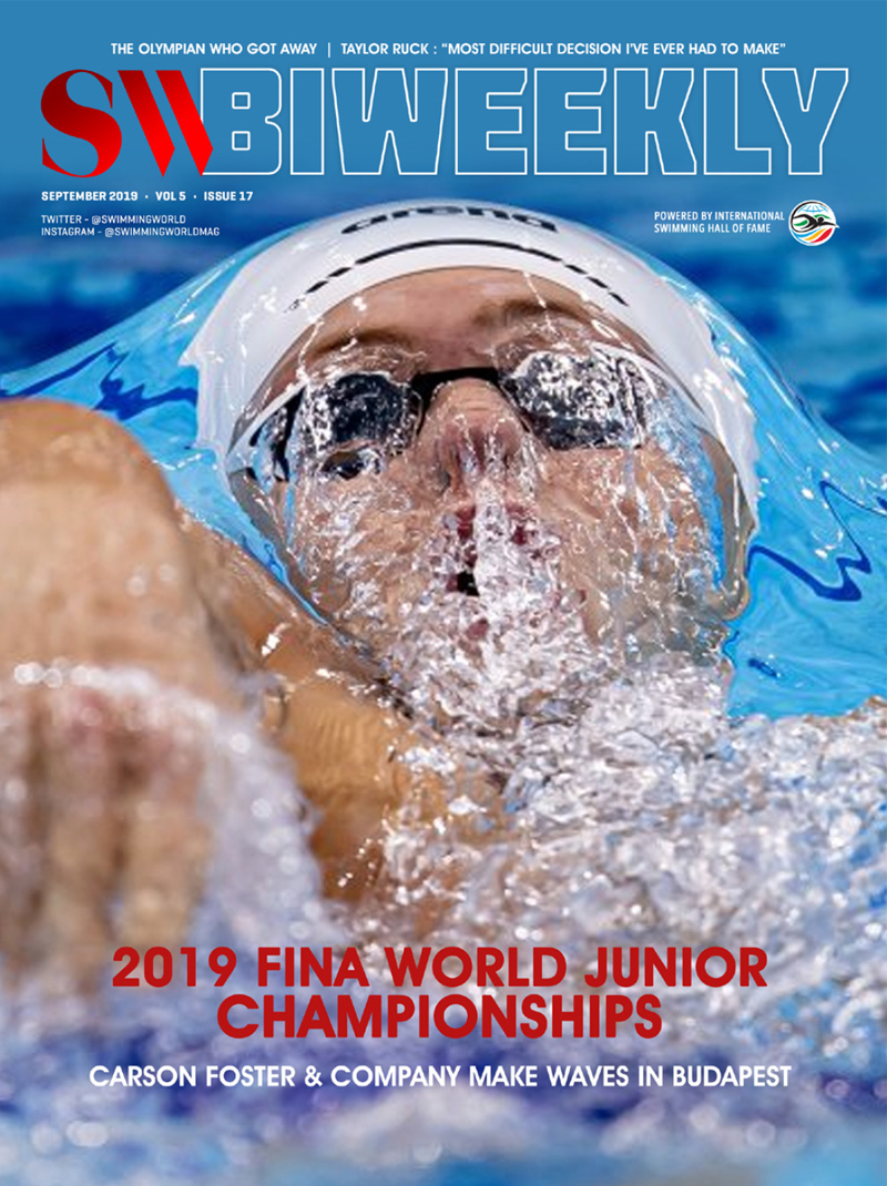 SW Biweekly 9-7-19 Cover SW Biweekly 2019 FINA World Junior Championships full finals recap