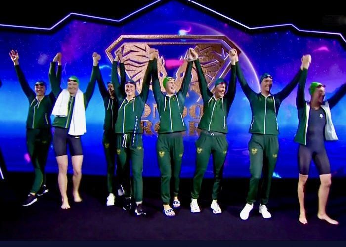 London Roar - with a Match victory and an Australian national record in the women's 4x100m medley AussieLondonRoar