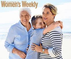Covered in glory. Dawn Fraser, daughter Dawn-Lorraine and grandson Jackson grave the front cover of Australia's famous women's magazine.
