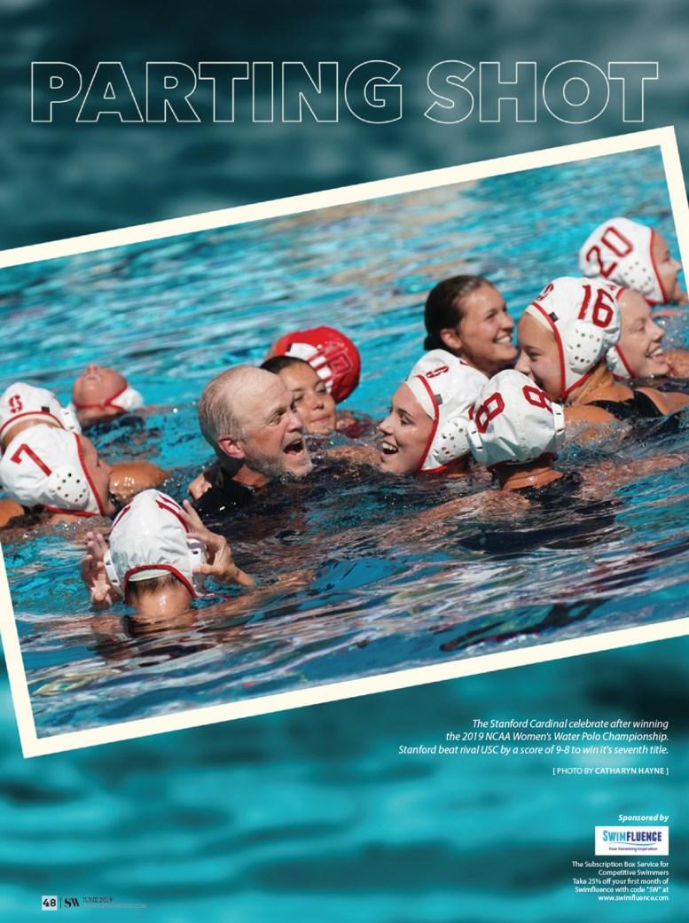 Swimming World Magazine - Parting Shot June 2019 - The Stanford Cardinals