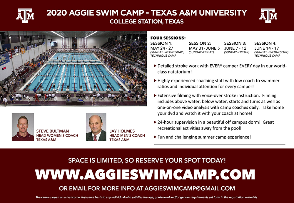 texas-a-m-2020-swim-camp-ad