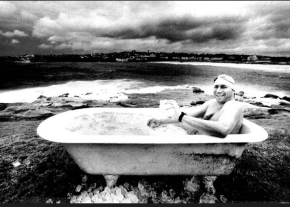 Cyril Baldock in the Bath