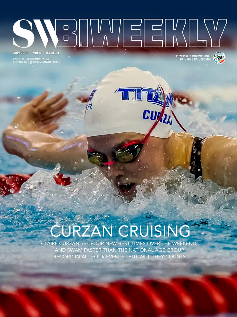 SWBiweekly 7-22-20 Curzan Cruising - Claire Curzan Swam Faster Than The National Age Group Record In All Four Events... Will They Count - Cover