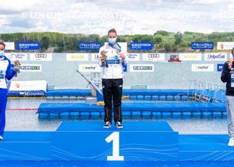 women's 25k podium 2021 European Aquatics Championships