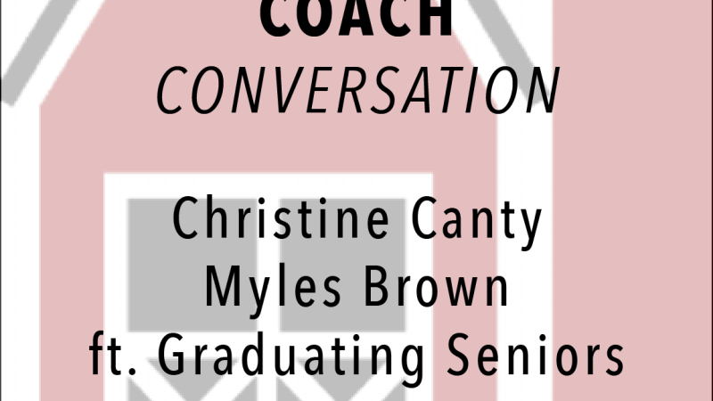 Conversation with the Hunter Mill Head Coaches: Christine Canty and Myles Brown, featuring the graduating seniors