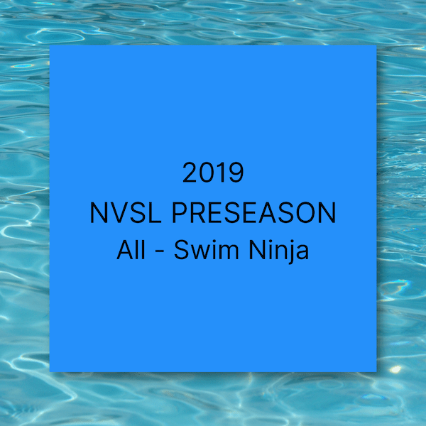 2019 NVSL Preseason All Swim Ninja