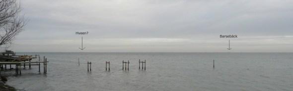 Udsigt over Øresund nord for Bengtasvej i Hellerup