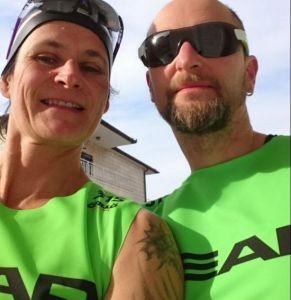 Andres und Barbara am Start in Hvar - Foto: SwimRun Germany