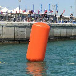 triathlon inflatable marker buoy orange