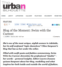 The Urban Sihouette, http://www.theurbansilhouette.com/2012/04/blog-of-the-moment-swim-with-the-current/