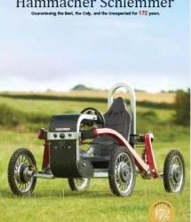 Swincar as the cover for Hammacher Schlemmer 2020 Spring catalog!