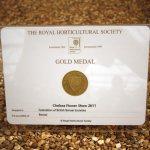 RHS Gold Medal for FOBBS