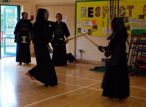 Kendo Exhibition at Shaw Ridge Primary School