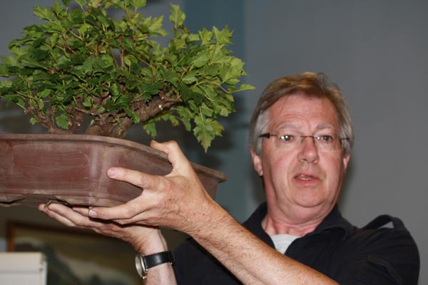 Malcolm Hughes holding TA's Acer