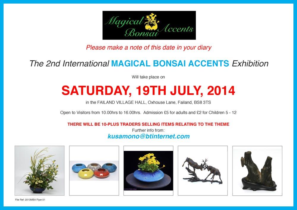Magical Bonsai Accents flyer 2014