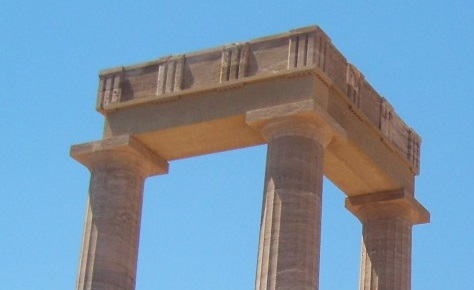 Picture of a ruined Greek temple